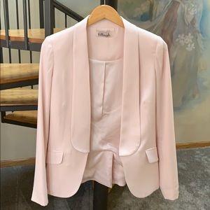 Kittenish Shawl Collar Blazer / Sz. S / Blush